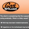 Have a look at some leaked screens from a Geek Squad certification test.