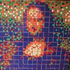 Yes, multiple Rubik's Cubes can make for some awesome pixelated art.